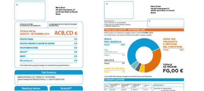 CAMBIA LA BOLLETTA DI ENERGIA. LA PROSSIMA SARA' LA BOLLETTA 2.0