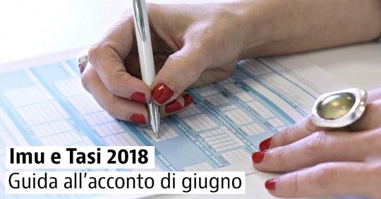 Imu e Tasi 2018: in scadenza il pagamento dell'acconto 2018