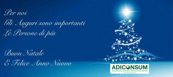 Auguri Buon Natale e Felice Anno Nuovo. Chiusura sedi