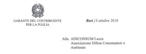 Consorzi di Bonifica /7.  Per il Garante del Contribuente della Puglia gli atti emessi dal Consorzio di Bonifica Ugento Li Foggi sono arbitrari e illegittimi e invita il consorzio ad annullarli e rimborsare le somme riscosse.
