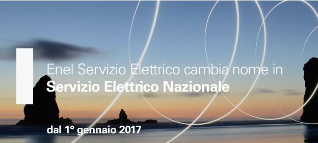 Enel Servizio Elettrico cambia nome e diventa Servizio Elettrico Nazionale