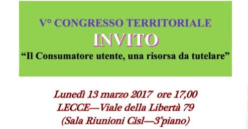 Adiconsum Lecce a Congresso il 13 marzo 2017
