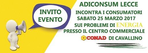 Problemi di Energia? Adiconsum Lecce incontra i consumatori