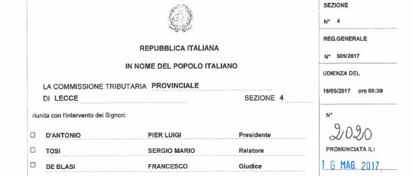 Consorzi di Bonifica. La Commissione Tributaria di Lecce annulla le ingiunzioni Soget