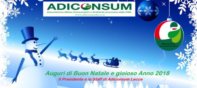 Chiusura sede periodo natalizio. Auguri di buon Natale e Gioioso 2018