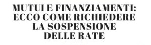 Mutui e prestiti: sospensione dei pagamenti fino al 2021. Compila il Modulo